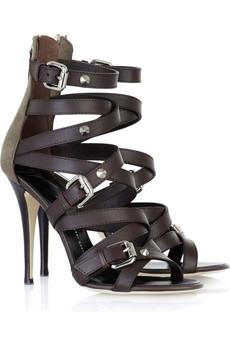 оптом Сандалии на высоких каблуках-белый