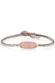 14-karat rose gold, silver and tourmaline bracelet