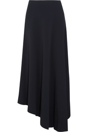 Asymmetric stretch-cady maxi skirt