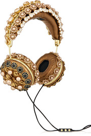 + Frends embellished metallic leather headphones