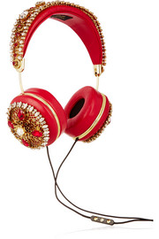 + Frends embellished leather headphones