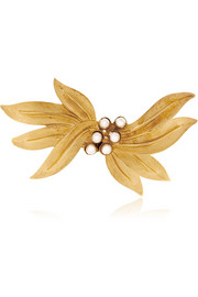 Gold-tone and faux pearl hairclip