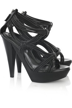Burberry Prorsum Knotted leather sandals