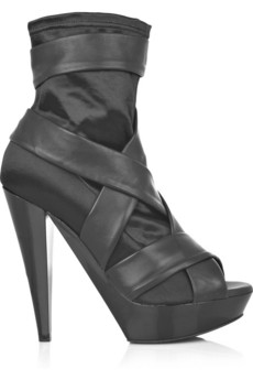 Burberry Prorsum Satin and leather boots