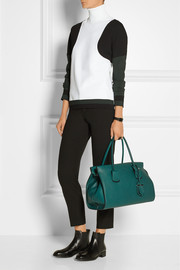 Note medium textured-leather tote