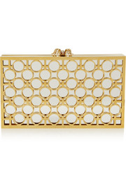 Reflection Pandora gold-tone and mirrored Perspex clutch