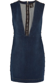 McQ Alexander McQueen Studded denim mini dress