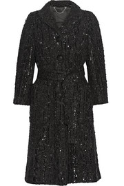 Sequined bouclé coat