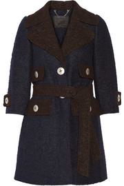 Two-tone llama and wool-blend coat