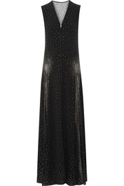 Studded crepe gown