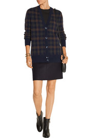 Plaid cashmere cardigan