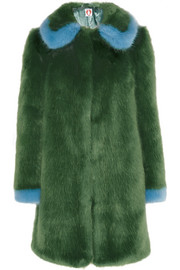 Abatha two-tone faux fur coat