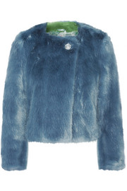 Shrimps Muffin faux fur coat