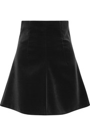 Stretch-cotton velvet mini skirt