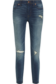 The High Riser distressed skinny jeans