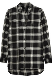 Ex-Boyfriend plaid cotton-flannel shirt