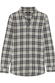 Eden plaid cotton-flannel shirt