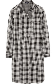 Jane plaid cotton-flannel mini dress