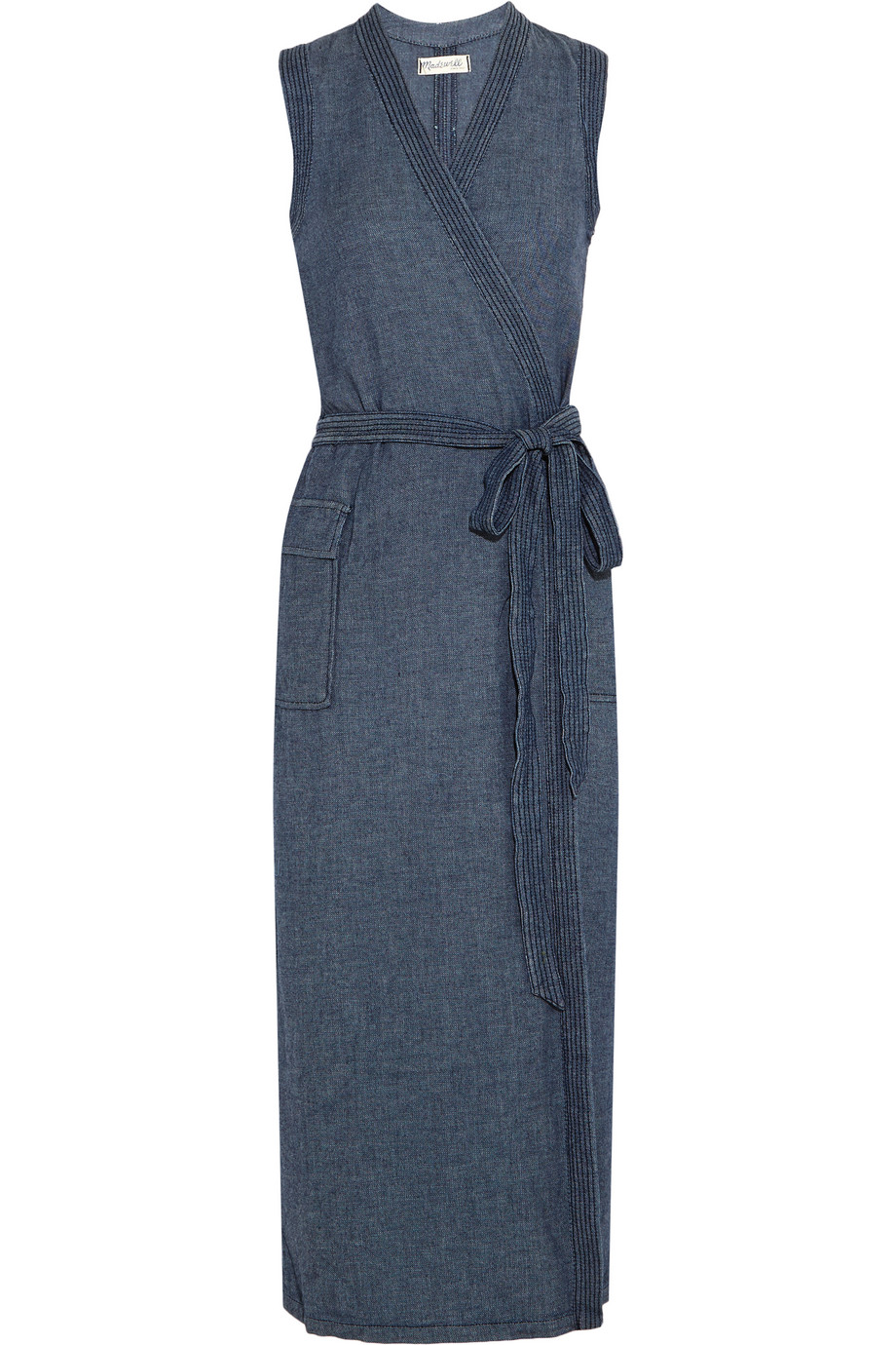 Madewell Denim Wrap Dress, Size: S
