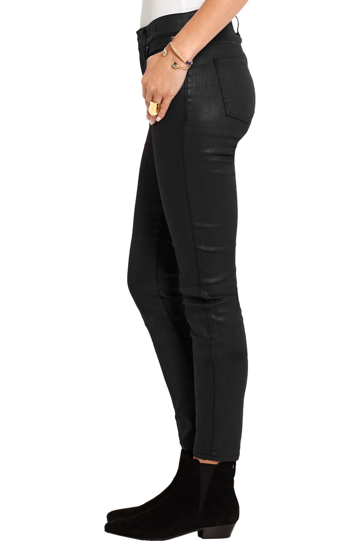 Madewell Coated high-rise skinny jeans