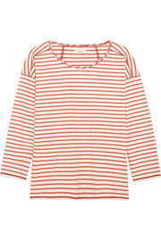 Gloria striped cotton-jersey top