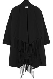 Dolly fringed crepe coat