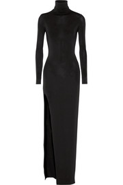 Lana stretch-jersey turtleneck maxi dress