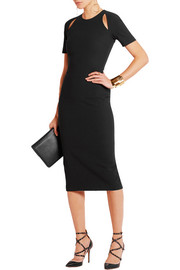 Bayli cutout stretch-crepe dress