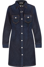 Pixie denim mini shirt dress