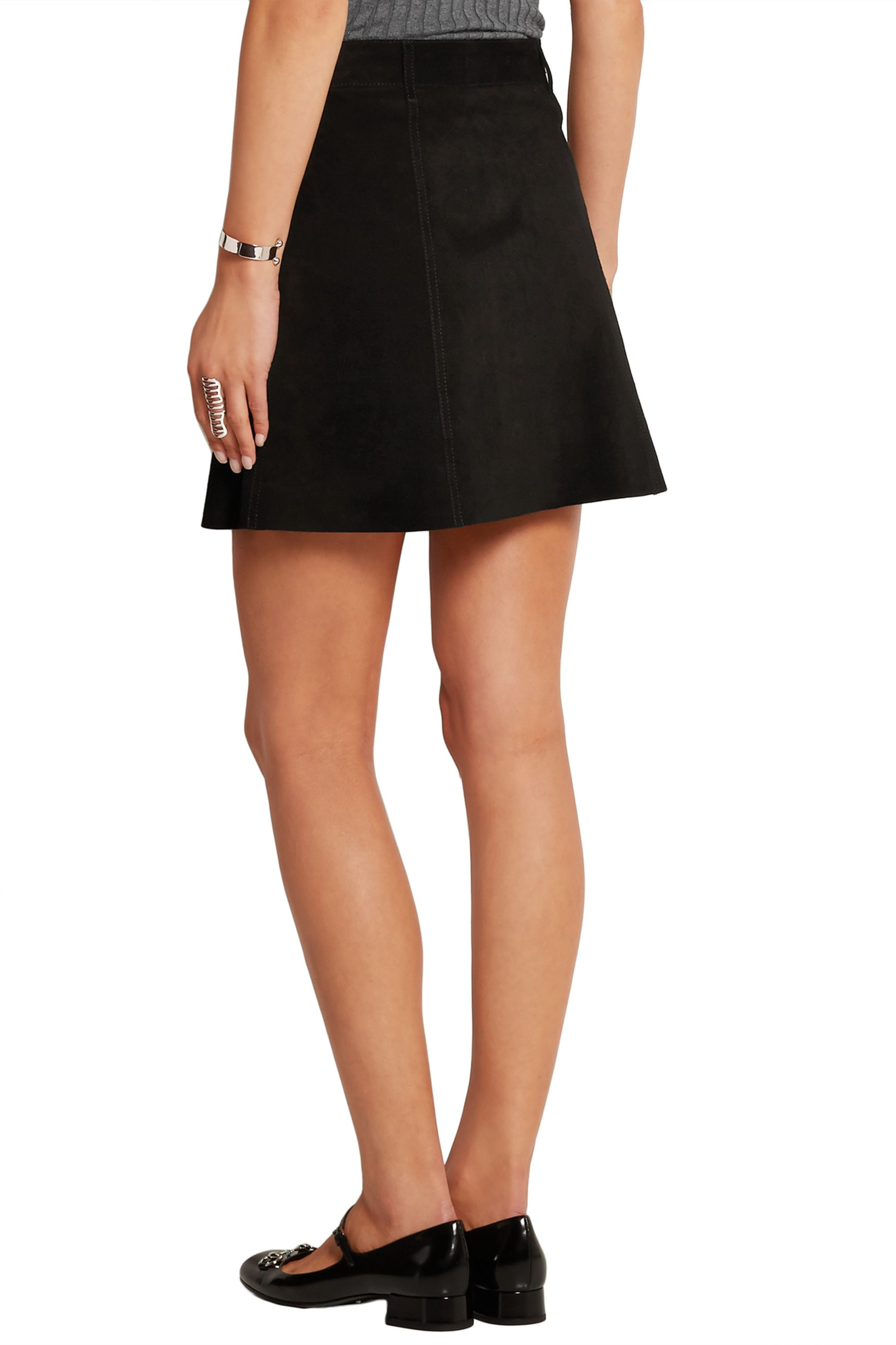 Alexa Chung For AG Jeans The Gove suede mini skirt