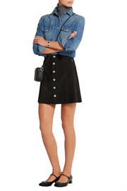 The Gove suede mini skirt