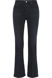Revolution cropped high-rise bootcut jeans
