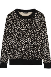 Printed silk-blend sweater