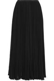 Pleated crepe skirt