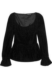 Velvet peplum top