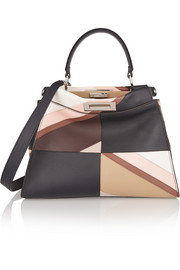 Peekaboo medium patchwork leather tote