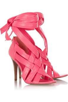 Tory Burch | Wrap Up leather sandals | NET-A-PORTER.COM from net-a-porter.com