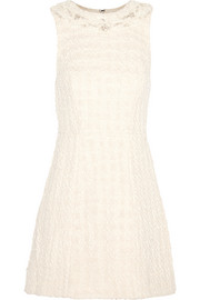 Haven embellished cotton-bouclé mini dress