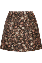 Jessa metallic brocade mini skirt