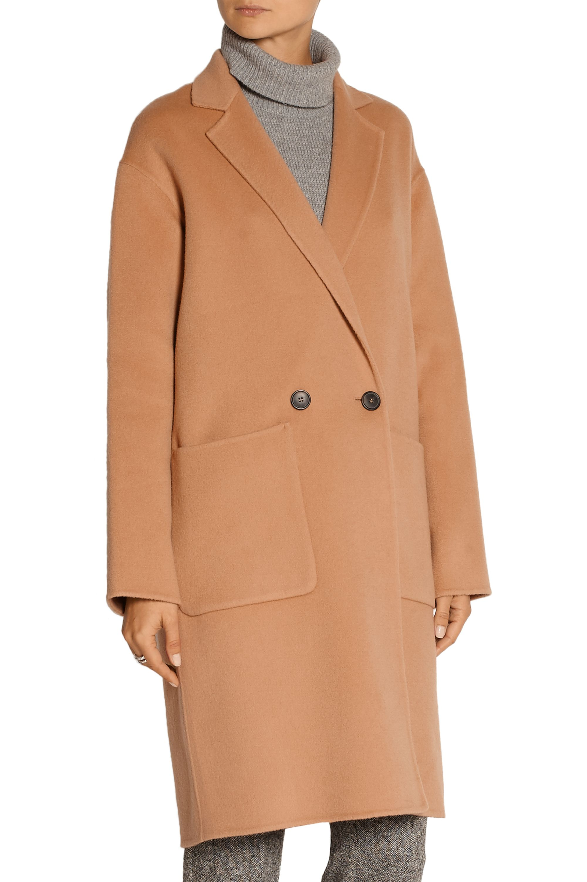 Theory Eletkah felted wool and cashmere-blend coat