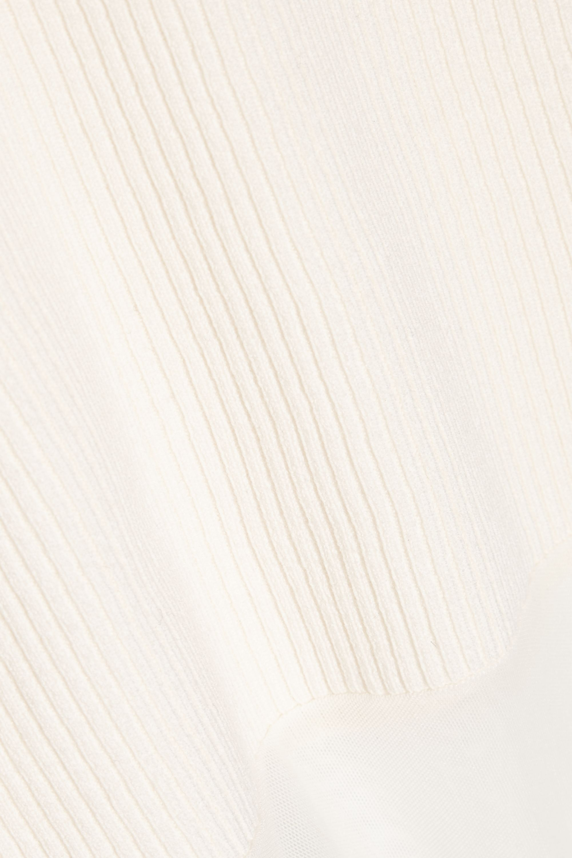 Theory Dorsianne ribbed stretch wool-blend turtleneck bodysuit