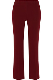 Theory Lolka cropped crepe straight-leg pants