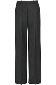 Adamaris wool-blend flannel wide-leg pants