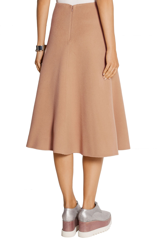 Theory Uthema wool and cashmere-blend felt midi skirt