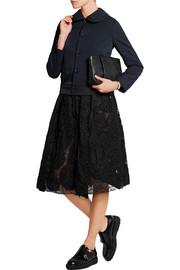 Lace and taffeta skirt