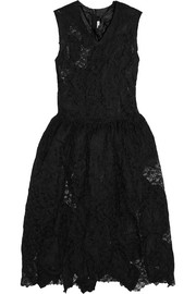 Lace and taffeta dress