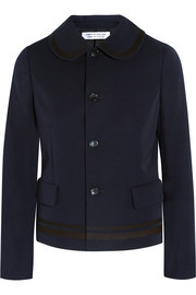 Canvas-trimmed wool-gabardine jacket
