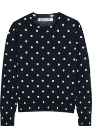 Polka-dot intarsia wool sweater
