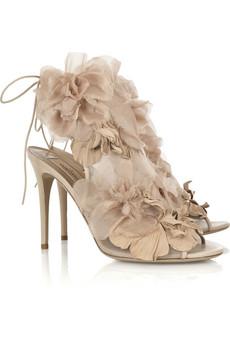 Valentino|Floral organza sandals|NET-A-PORTER.COM from net-a-porter.com