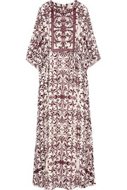 Printed silk-georgette maxi dress